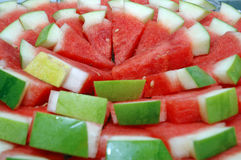 Watermelon. Stack of fresh red slices watermelon Royalty Free Stock Photos