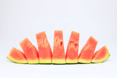 Watermelon. Pieces with  background Royalty Free Stock Image