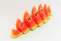 Watermelon. Pieces with  background Stock Image
