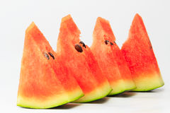 Watermelon. Pieces with  background Stock Photography