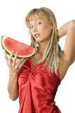 The watermelon Royalty Free Stock Images