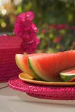 Watermelon. Wedges of watermelon stock images
