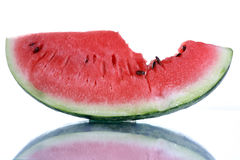 Watermelon. Fresh watermelon with reflection, food and nutrition at summer Royalty Free Stock Image