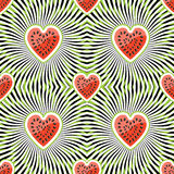Watermelon on abstract background.Seamless pattern vector illustration