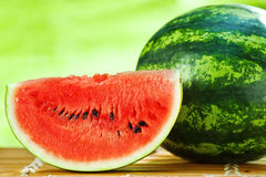 Watermelon against natural background closeup Royalty Free Stock Photo