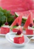 Watermelon Appetizer Stock Photos
