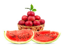 Watermelon and apples Royalty Free Stock Images