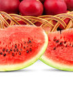 Watermelon and apples Stock Image