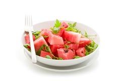 Watermelon and Arugula Salad Isolated Stock Image