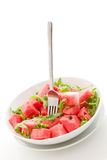 Watermelon and Arugula Salad Isolated Royalty Free Stock Photo