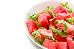 Watermelon and Arugula Salad Isolated Royalty Free Stock Photography
