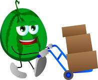 Watermelon as delivery man Royalty Free Stock Image