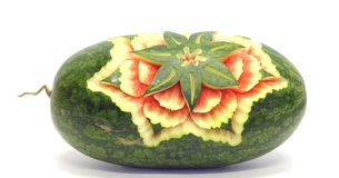 Watermelon Asian Fruit Carving Royalty Free Stock Images