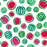Watermelon Background Painted Pattern Royalty Free Stock Photos