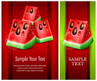 Watermelon banner Royalty Free Stock Photography
