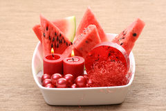 Watermelon bath Royalty Free Stock Photos