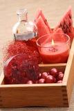 Watermelon bath Stock Photo