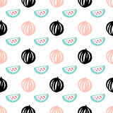 Watermelon Berry Seamless Pattern Stock Image