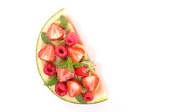 Watermelon and berry Royalty Free Stock Photography