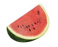 Watermelon big piece isolated on white background royalty free stock photo
