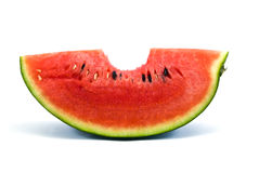 Watermelon bite Stock Photography