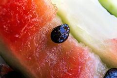 Watermelon with black core Royalty Free Stock Photography