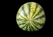 Watermelon on black Stock Image