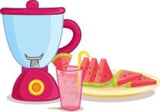 Watermelon and blender stock illustration