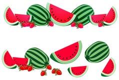 Watermelon Border Element Stock Images