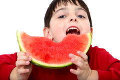 Watermelon Boy Royalty Free Stock Image
