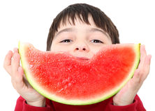 Watermelon Boy Stock Image