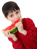 Watermelon Boy Royalty Free Stock Photo