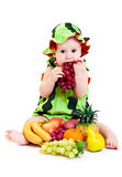 Watermelon boy Stock Images