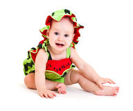 Watermelon boy Stock Photo