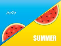 Watermelon brochure design Stock Photo