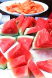 Watermelon at buffet Royalty Free Stock Photo