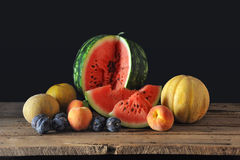 Watermelon and cantaloupe Royalty Free Stock Images