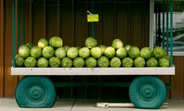 Watermelon Cart Stock Photo