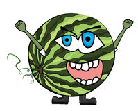 Watermelon cartoon character Royalty Free Stock Image