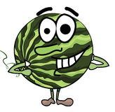 Watermelon cartoon character Royalty Free Stock Images