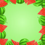 Watermelon Cartoon Frame Stock Images