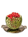 Watermelon carving Stock Images