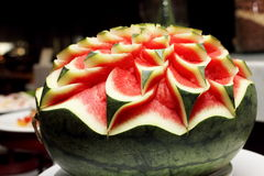 Watermelon carving Stock Image