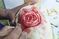 Watermelon Carving Stock Photography