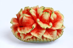 Watermelon carvings. Watermelon Fruits and Vegetable Carving Royalty Free Stock Photos