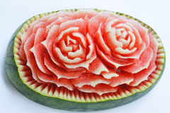 Watermelon carvings Royalty Free Stock Photography