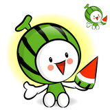 Watermelon characters to promote fruit selling. Fruit Character Royalty Free Stock Photos