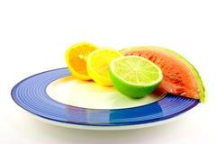 Watermelon with Citrus Halves Stock Photography