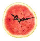 Watermelon clock Royalty Free Stock Images