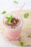 Watermelon cocktail with milk and mint Royalty Free Stock Photo